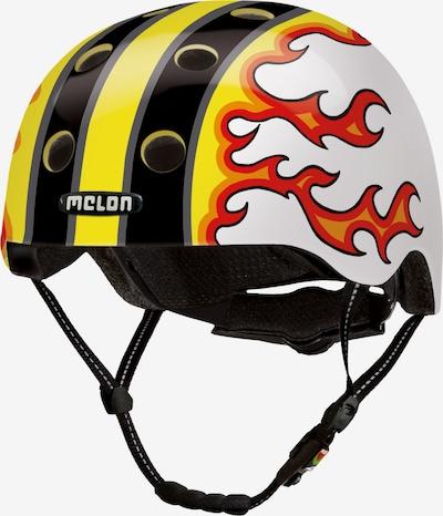 Melon Helm 'Fired Up' in gelb / orange / schwarz / weiß, Produktansicht