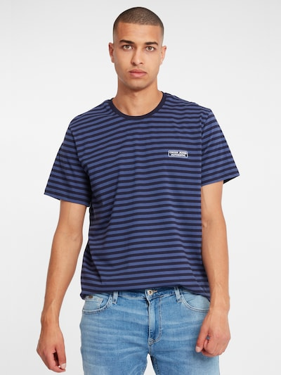 Cross Jeans T-Shirt in blau: Frontalansicht