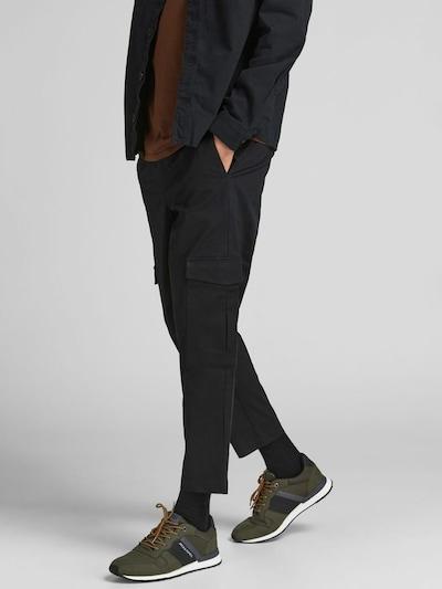 JACK & JONES Cargoshose 'Bill' in schwarz, Modelansicht