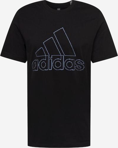 ADIDAS PERFORMANCE T-Shirt fonctionnel en bleu-gris / noir, Vue avec produit