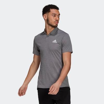 ADIDAS PERFORMANCE Sportshirt in grau / weiß: Frontalansicht