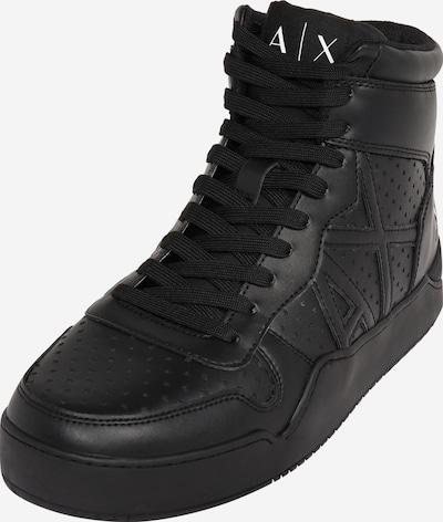 Sneaker înalt ARMANI EXCHANGE pe negru, Vizualizare produs