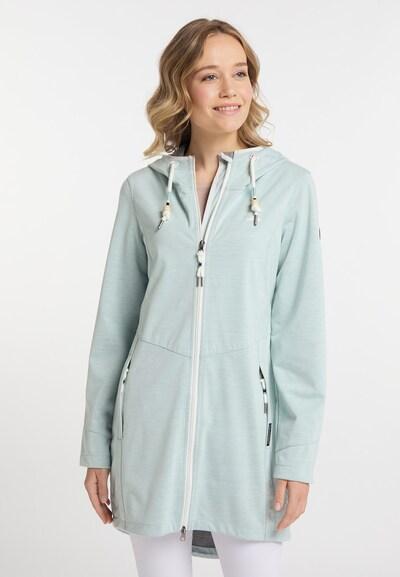 Schmuddelwedda Functionele mantel in de kleur Mintgroen / Wit, Modelweergave