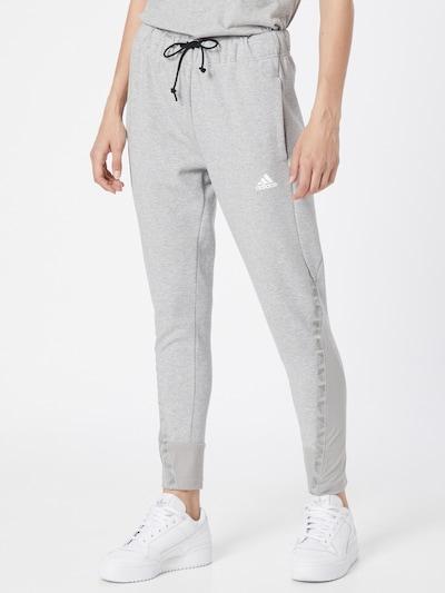 Pantaloni sport ADIDAS PERFORMANCE pe gri / alb, Vizualizare model