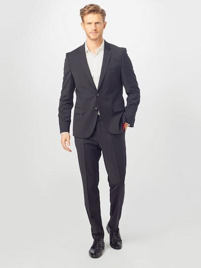 HUGO Anzug 'Arti/Hesten' in schwarz: Frontalansicht