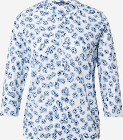 Marc O'Polo T-shirt en bleu marine / bleu fumé / blanc, Vue avec produit