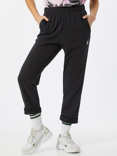 ADIDAS ORIGINALS Hose 'Boyfriend' in schwarz / weiß, Modelansicht