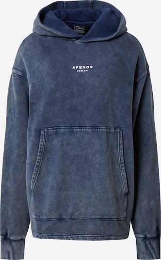 Bluză de molton Afends pe bleumarin / alb, Vizualizare produs