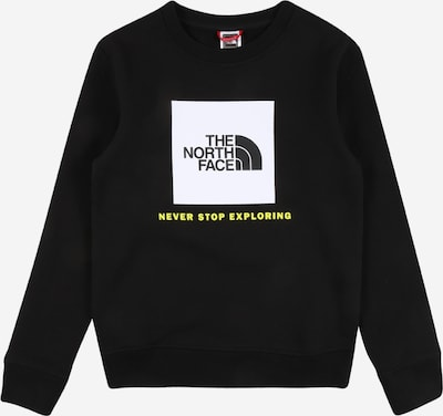 THE NORTH FACE Sportsweatshirt in gelb / schwarz / weiß, Produktansicht