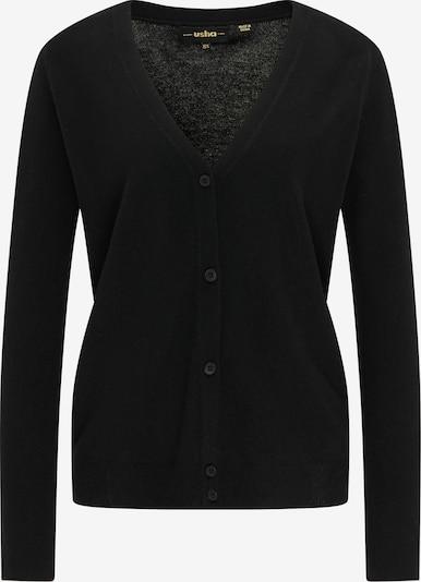 usha BLACK LABEL Gebreid vest in de kleur Zwart, Productweergave