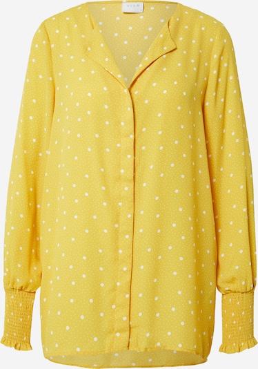 VILA Bluza | rumena / bela barva, Prikaz izdelka