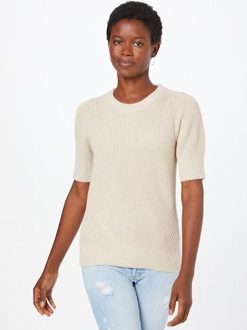 REPEAT Sweter w kolorze beżowy