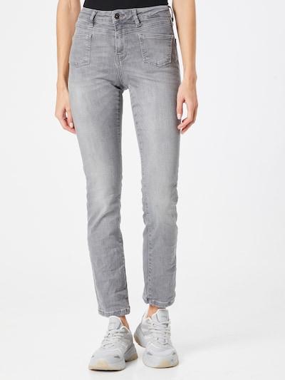Soccx Jeans in de kleur Grey denim, Modelweergave