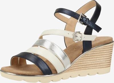 CAPRICE Sandalen in blau / silber / naturweiß, Produktansicht