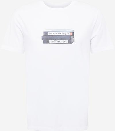 ARMEDANGELS T-Shirt 'JAAMES' in blau / schwarz / weiß, Produktansicht