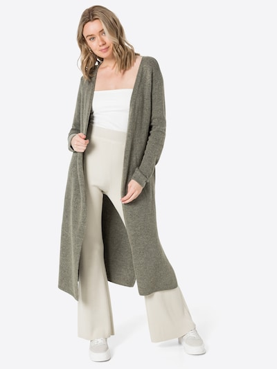 Soyaconcept Knitted Coat 'NESSIE 29' in Olive, View model