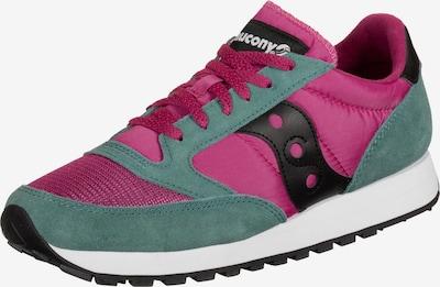 saucony Sneaker 'Jazz Vintage W' in grün / pink / dunkelpink / schwarz / weiß: Frontalansicht