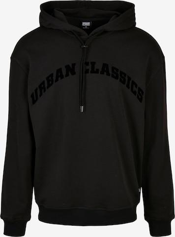 Bluză de molton de la Urban Classics Big & Tall pe negru