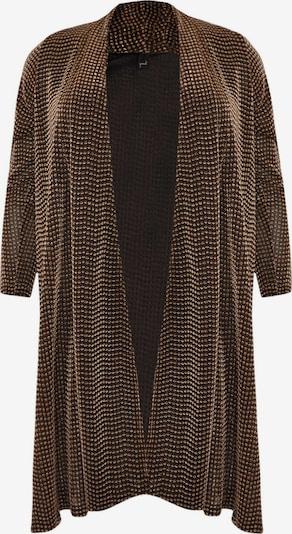 Yoek Knit Cardigan in Gold / Black, Item view