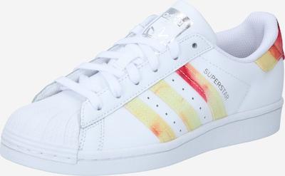 Sneaker low 'Superstar' ADIDAS ORIGINALS pe galben / roșu vin / alb, Vizualizare produs