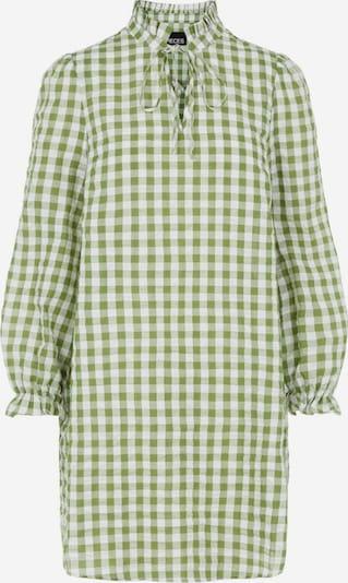 PIECES Robe-chemise en vert pastel / vert clair / blanc: Vue de face