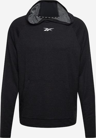 Reebok Sport Sportsweatshirt in graumeliert / schwarzmeliert / weiß, Produktansicht