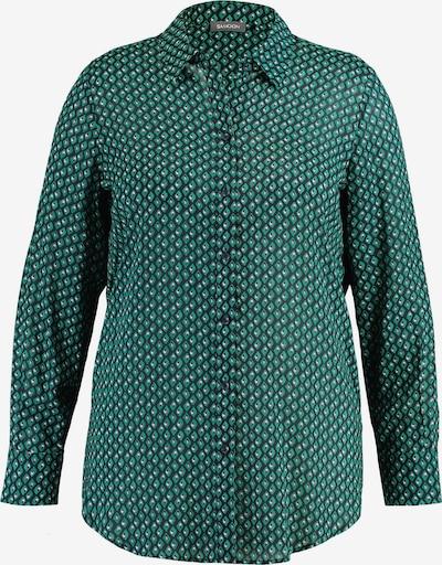 SAMOON Bluse in grün / schwarz / weiß, Produktansicht