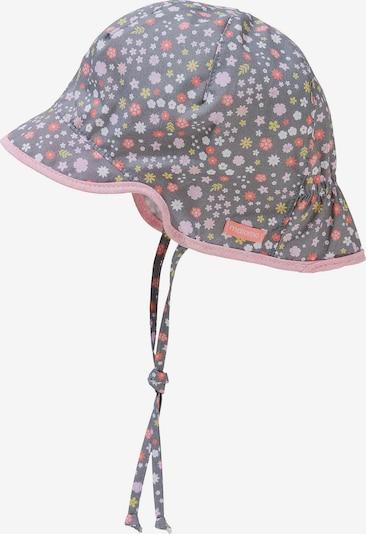 MAXIMO Bonnet en gris foncé / olive / rose / grenadine / blanc, Vue avec produit