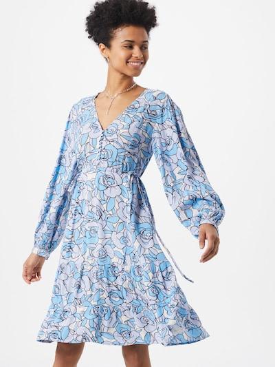 Fabienne Chapot Kleid 'Lola' in blau / pastelllila / weiß, Modelansicht