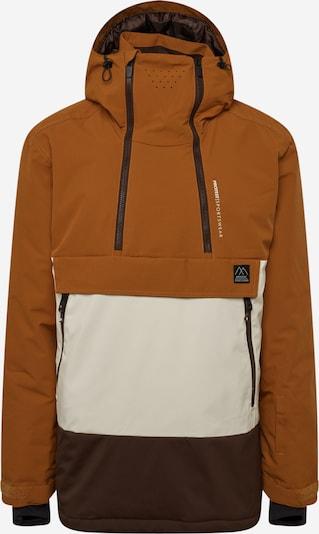 sötét barna / méz / fehér PROTEST Kültéri kabátok 'Backflip', Termék nézet