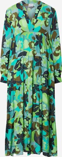 Emily Van Den Bergh Robe-chemise en bleu néon / bleu clair / bleu foncé / olive / vert pastel, Vue avec produit