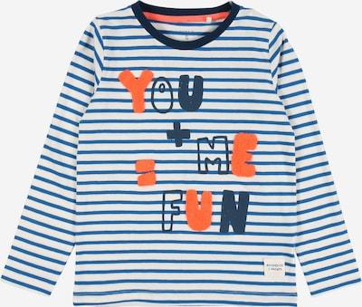 NAME IT Shirt 'Nalok' in blau / marine / orange / weiß, Produktansicht