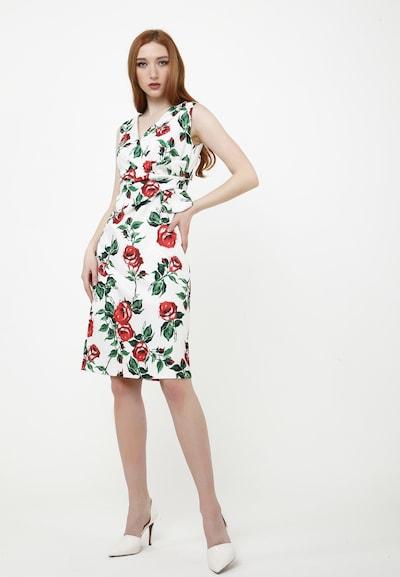 Madam-T Sommerkleid 'MARSIA' in rot / weiß, Modelansicht