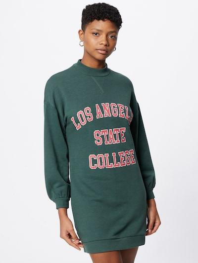 Pimkie Kleid in smaragd / melone / weiß, Modelansicht