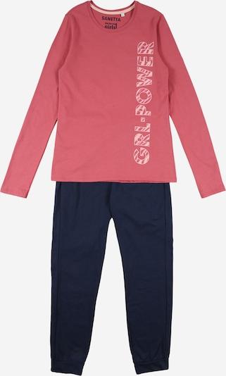 SANETTA Pajamas in navy / pink / white, Item view