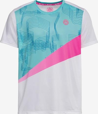BIDI BADU T-Shirt Jarol Tech mit coolem Kontrast-Design in türkis / pink / weiß, Produktansicht