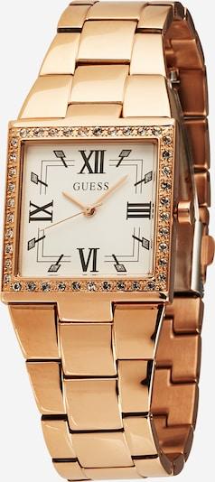 GUESS Analoog horloge 'CHATEAU' in de kleur Rose-goud / Zwart / Wit, Productweergave
