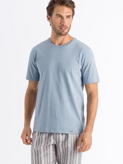 Hanro Shirt ' Living Shirts ' in de kleur Duifblauw: Vooraanzicht