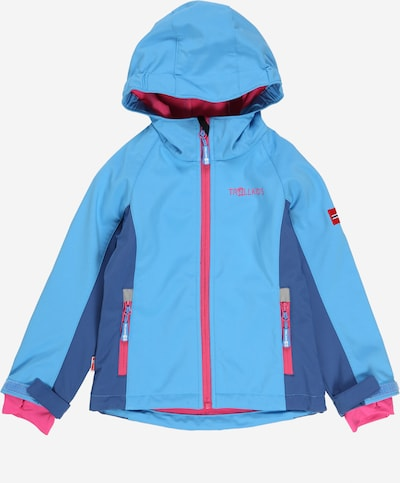 TROLLKIDS Outdoorjas 'Kristiansand' in de kleur Lichtblauw / Donkerblauw / Pink, Productweergave
