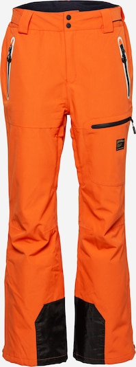 Superdry Snow Outdoorbroek 'FREESTYLE' in de kleur Donkeroranje / Zwart, Productweergave