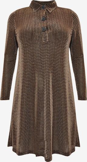 Yoek Kleid 'LUREX' in bronze / schwarz, Produktansicht