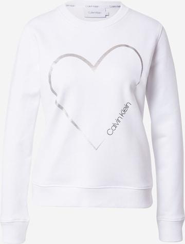Calvin Klein Sweatshirt 'VALENTINES' in White