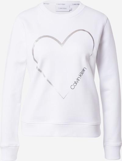 Calvin Klein Sweatshirt 'VALENTINES' in schwarz / silber / weiß, Produktansicht