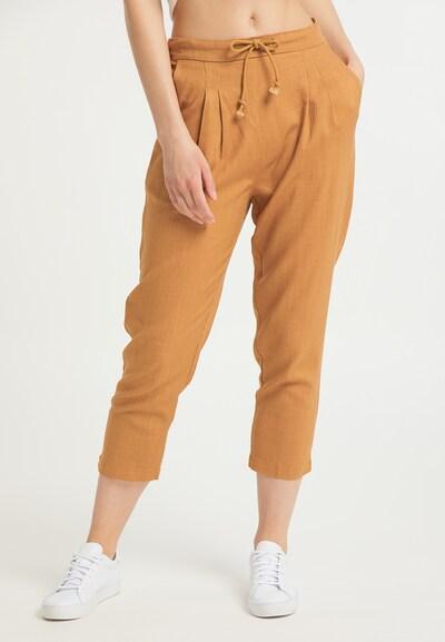 Usha Hlače s naborima u boja devine dlake (camel), Prikaz modela