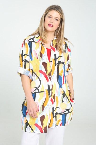 Paprika Bluse in blau / gelb / mischfarben / weiß, Modelansicht