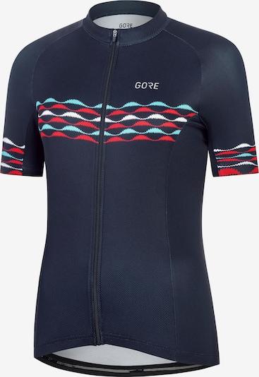 GORE WEAR Funktionsshirt 'Skyline' in navy / aqua / rot / weiß, Produktansicht