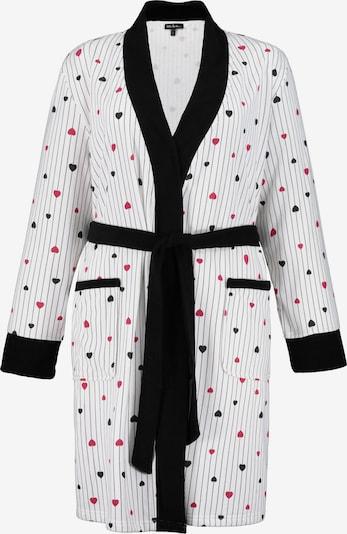 Accappatoio corto Ulla Popken di colore pitaya / nero / bianco, Visualizzazione prodotti