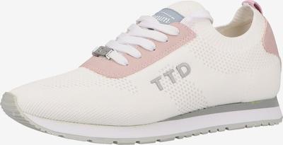 TOM TAILOR Baskets basses en rose ancienne / blanc, Vue avec produit