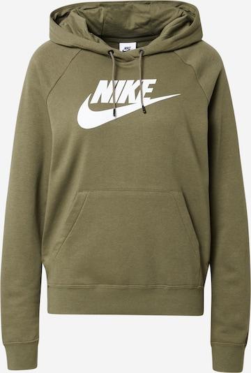 Nike Sportswear Sweat-shirt en olive / blanc, Vue avec produit