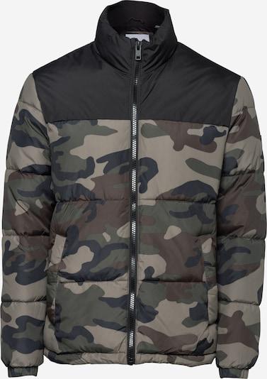 JACK & JONES Jacke 'DREW' in khaki / mint / dunkelgrün / schwarz, Produktansicht